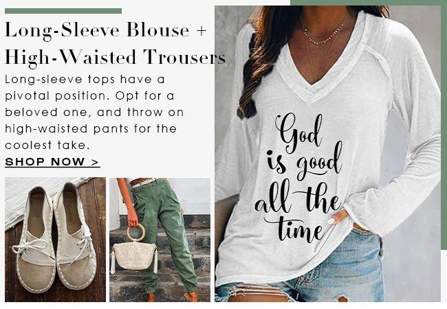 LongSleeveBlouse-HighWaisted-Trousers
