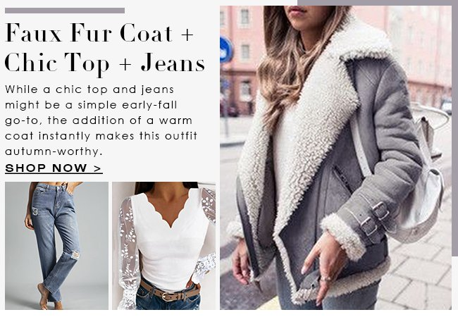 FauxFurCoat-ChicTop-Jeans
